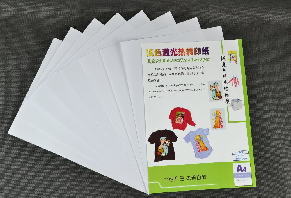 (A4*10pcs)Metallic Color laser heat transfer paper for Light Fabrics, suitable for any fabric , even 100% cotton TL-150H(China (Mainland))