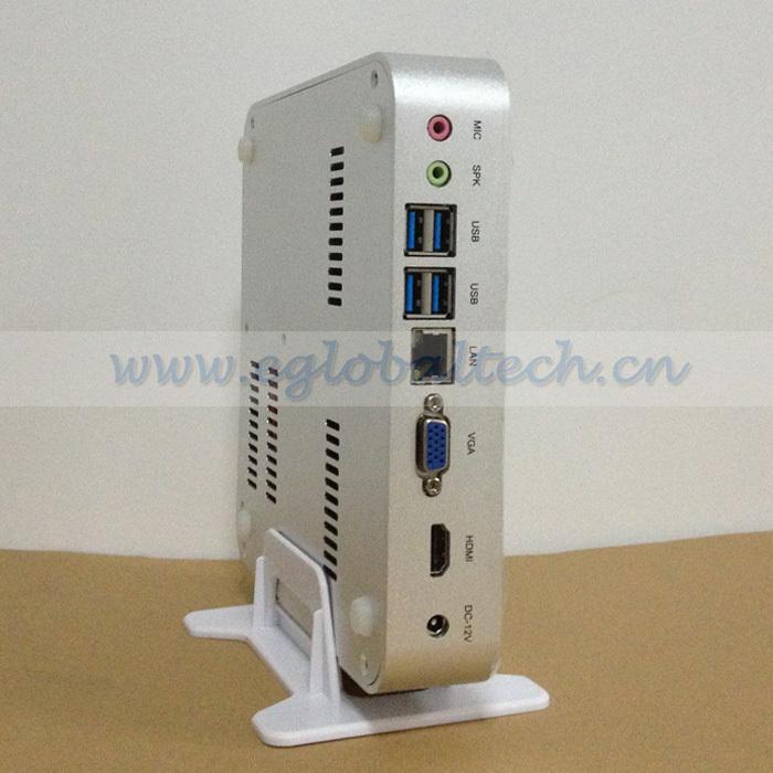 Fanless Mini PC Intel Core i5 4200U Small Car PC 12V Power Adapter 4K HDMI Stream Video XBMC Box Multi USB Port POS PC Computer(China (Mainland))