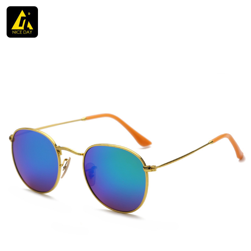 2015 Gold sunglasses for women brand designer vintage retro round sunglasses men luxury brand original oculos de sol feminino(China (Mainland))