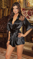 Satin robes sexy Lingerie hot Womens night pajamas sexy nightgown sexy women kimono lace sleepwwear