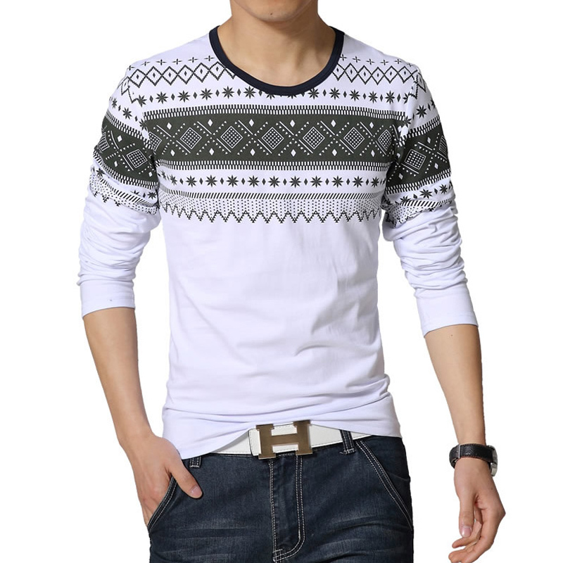 Fashion casual camisetas 2015 new high quality cotton for Long t shirt trend