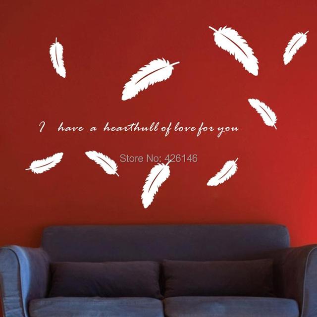 Aliexpress.com : Acquista piume di attaccare parete camera da ...