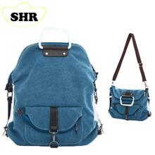 2015 новый женский холщовый мешок портативный многофункциональный посланник сумки на ремне три использование женщины сумку корейской мода школьные сумки