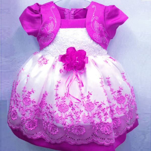 New Print Fashion Lace Ball Gown Infant Baby girls dresses For Free Shipping<br><br>Aliexpress