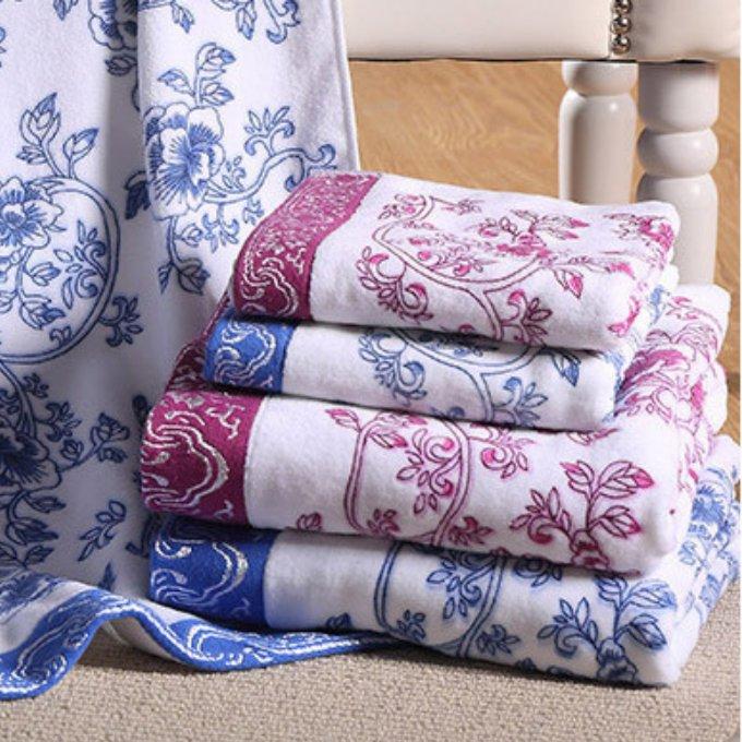 Buy 2pcs 35x72 1pce 70x140 Printed Cotton Bath Towels Sets For Adults