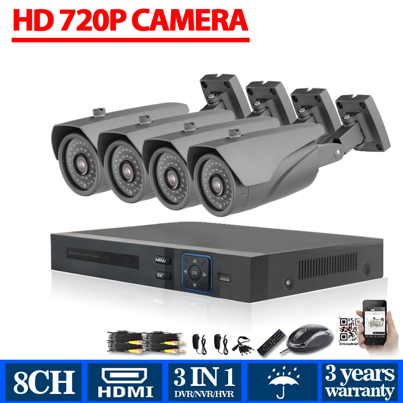 Home Security 8CH AHD DVR HD 8 Channel analog hd 1.0mp camera 720P security camera video surveillance system USB 3g wifi(China (Mainland))