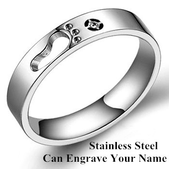Monogram Name Stainless Steel Rings for Men and Women, Nombre Anillo Customized Rings, 316 Titanium Engraved Ring(China (Mainland))