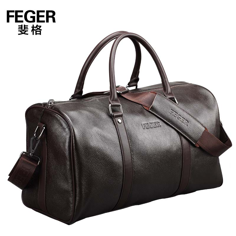 new 2015 brand genuine leather portable men travel bags duffle shoulder bag carry luggage items TB119 - My Top Bag store