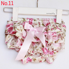 2015 Baby Girls Clothing PP Pants Baby Girls Satin Bowknot Ruffle PP Pants Kids Camo Leopard Bloomers 1-14Colors