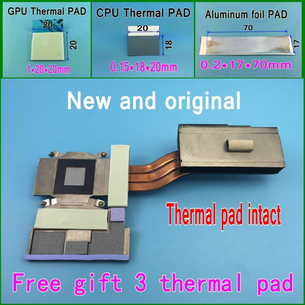 Gift 3 Thermal pad CN-0TDMDJ TDMDJ AT0MK0020F0 Cooling Heatsink For DELL ALIENWARE 17 M17X R4 Cooler Thermal module &amp; GPU Card<br><br>Aliexpress