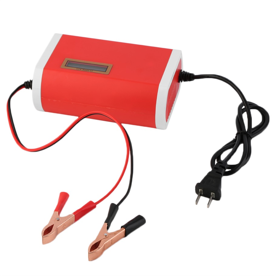 New 12-24V 10A Digital LCD Car Battery Charger Lead-Acid Motorcycle Power supply charger hot selling(China (Mainland))
