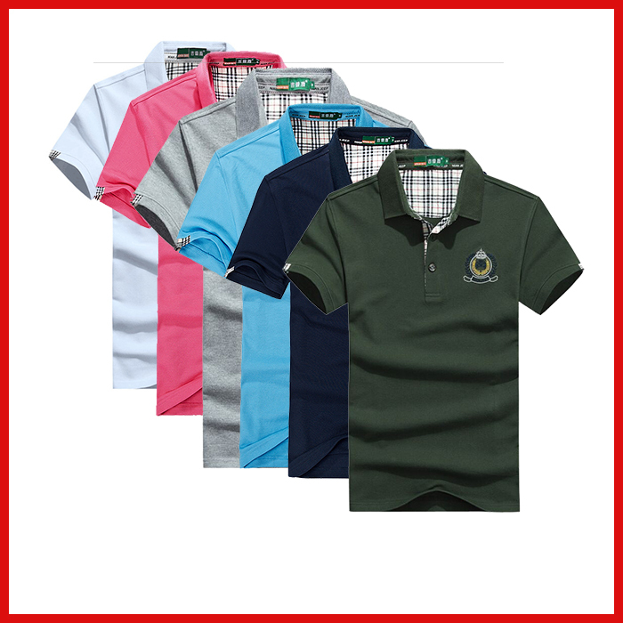 Lapel male short sleeved XXXL sports T Shirt Men Cheap Fashion Vintage Jerseys Pure Men T Shirt Tennis Lapel Male Short Sleeved(China (Mainland))