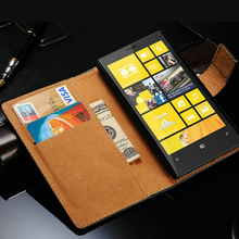 Vintage Genuine Leather Case For Nokia Lumia 920 Wallet Style Phone Bag With Stand 2 Card Holders 1 Bill Site Drop Ship