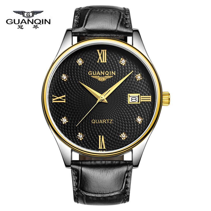 guanqin mens watches top brand luxury casual quartz