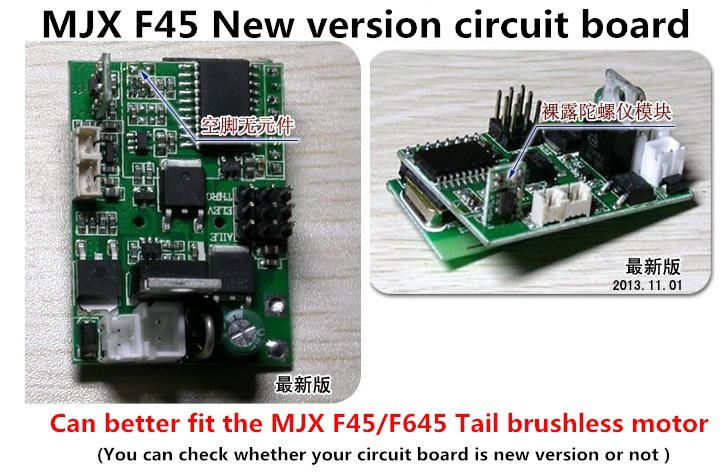 2014 New version circuit board mjx, f645,F45 remote control helicopter parts,019 pcb component, 2, new - China Factory store