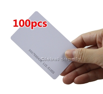 100pcs/lot 125Khz RFID Proximity ID Card For Access Controller Or Time Clock Free Shipping