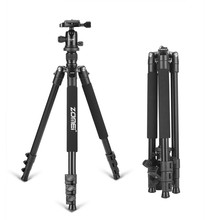 Zomei Q555 Tripe De Alumínio Tripé Profissional Flexível Câmera Portátil Tripé com Bola de Cabeça para DSLR camera Smartphones(China)