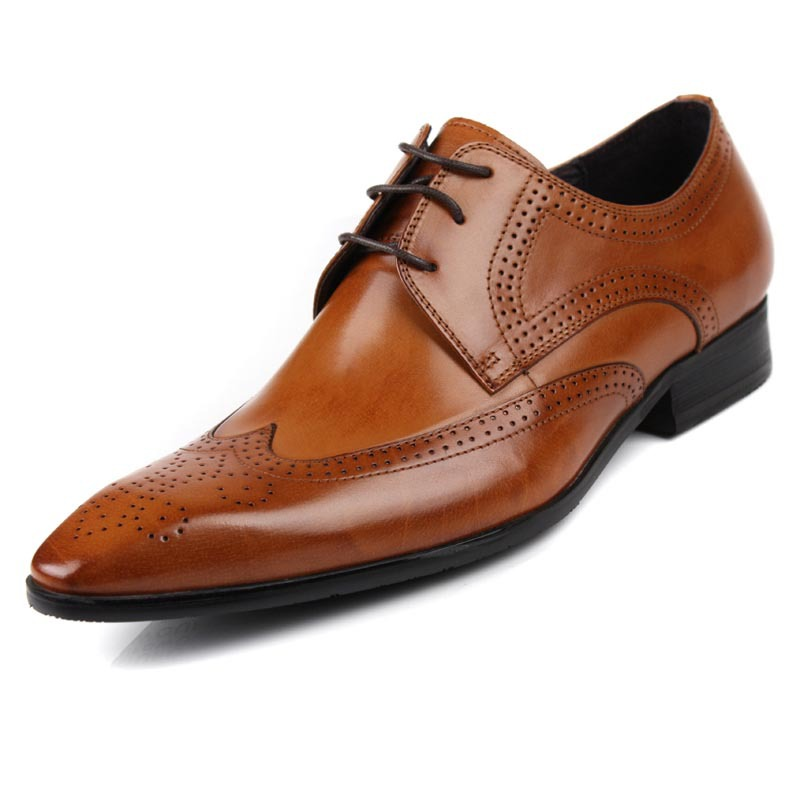 new business s real leather dress formal shoes lace up