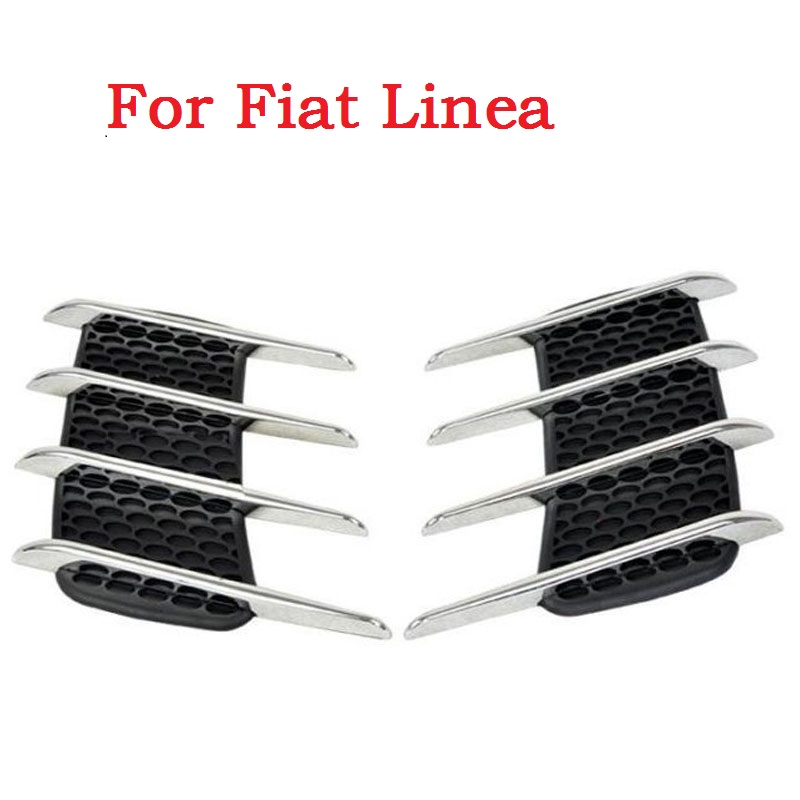 1 Pair Car Shark Gills Exterior Decor Side Air Intake Flow Grille Vent Outlet Decorative Car Styling Modification For Fiat Linea(China (Mainland))
