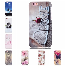 Luxury 3D Embossed Case for iPhone6s Hard Plastic Back Cover for Apple iPhone 6 6S 4.7″ Cartoon Phone Protective Housing
