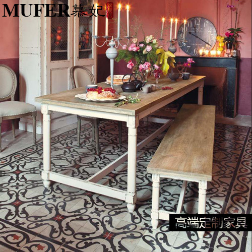 Mu Fei Custom Mediterranean Style Dining Room Furniture