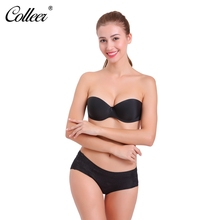COLLEER Sexy BH Push Up Bras For Women Wedding sujetador Adhesive Silicone Bra Breast Strapless Seamless Invisible Bra Big Cup