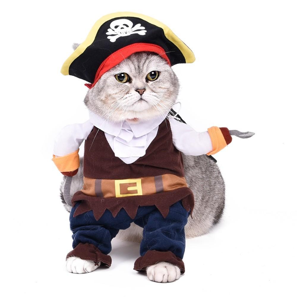 Hot Sale!!Pirate Cartoon Dog/Cat Costume Pet Dog/Cat Clothes Lovely Puppy Cat Cotton Pet Clothes Dog Costume Pet Supplies(China (Mainland))