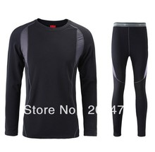 Top quality outdoor sports thermal underwear Long Johns quick drying thermo underwear men clothing(China (Mainland))