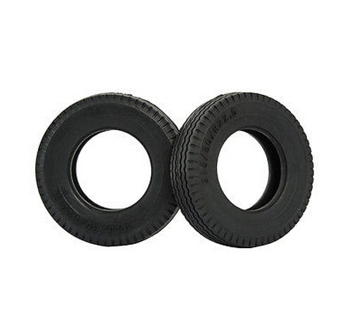 RC Rubber Tires (2) for Tamiya RC4WD 1/14 Tractor Semi Truck #56528 wheels(China (Mainland))