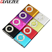 Classic Mini Metal Shell Clip MP3 Music Player Candy Colors No Memory Card MP3 Music Player with TF Card Slot