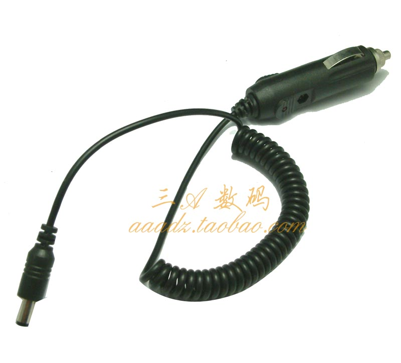 Free shipping, Car cigarette lighter plug with cable safety tube car cigarette lighter plug 5.5mm(China (Mainland))