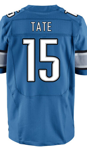 Men's #15 Golden Tate Jersey Elite Blue/White 100% Stitched Name And Number Free Shipping!(China (Mainland))