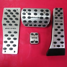 Accessories For Mercedes Benz AMG C E S GLK SLK CLS SL Class W204 W211 W212 W210 AT Brake Accelerator Pedal Pedale Stickers Pads(China (Mainland))