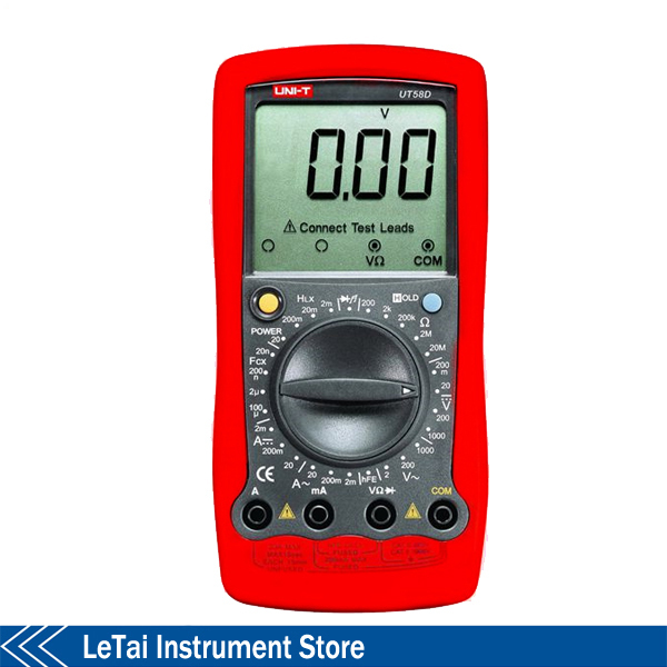 Здесь можно купить  UNI-T UT58D Multimetro Modern Manual Range Digital Multimeters Ammeter Multitester w/ Inductance Test LCR Meter  Инструменты