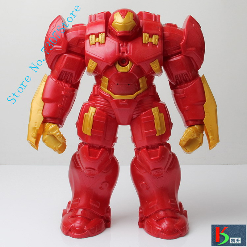 2016 Hot NEW movie avengers 2 31cm Age of Ultron light Iron man metal color Mark 43 Hulkbuster PVC Action Figure toys doll(China (Mainland))