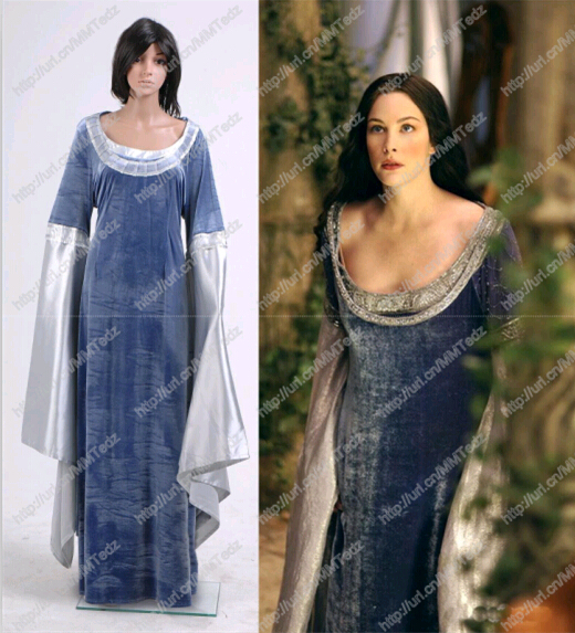 Arwen Blue Costume Cosplay Arwen Blue Dress