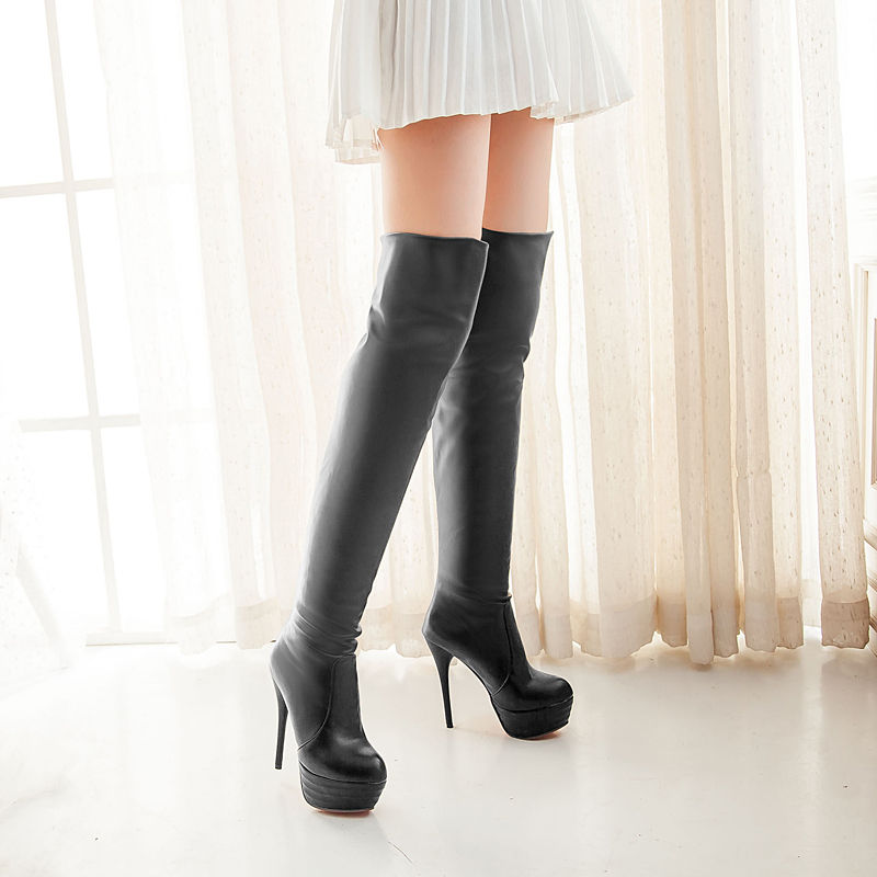 plus size 34 46 thigh high boots autumn winter the
