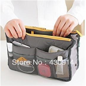 Durable   Nylon Cosmetic Storage Bag Organizer Travel Bag Pouch (Dark Grey   )