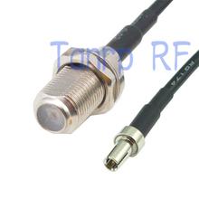 50 см пигтейл коаксиальный соединительный кабель RG174 удлинитель 20in F женский джек TS9 мужской адаптер разъемом рф