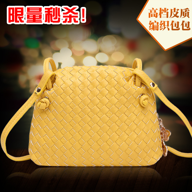 2015 new china designer women's leather[PU] knitting single shoulder bags fashion women embossing shoulder crossbody bags(China (Mainland))
