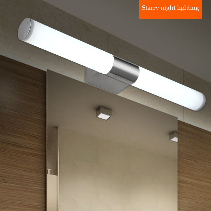 Contemporary stainless steel lights bathroom led mirror light vanity lighting wall lamps mirror cabinet LED lamp(China (Mainland))