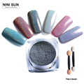 New 2g Box Shinning Mirror Nail Glitter Powder Perfect Holographic Nails Mirror Powder Dust Laser Silver