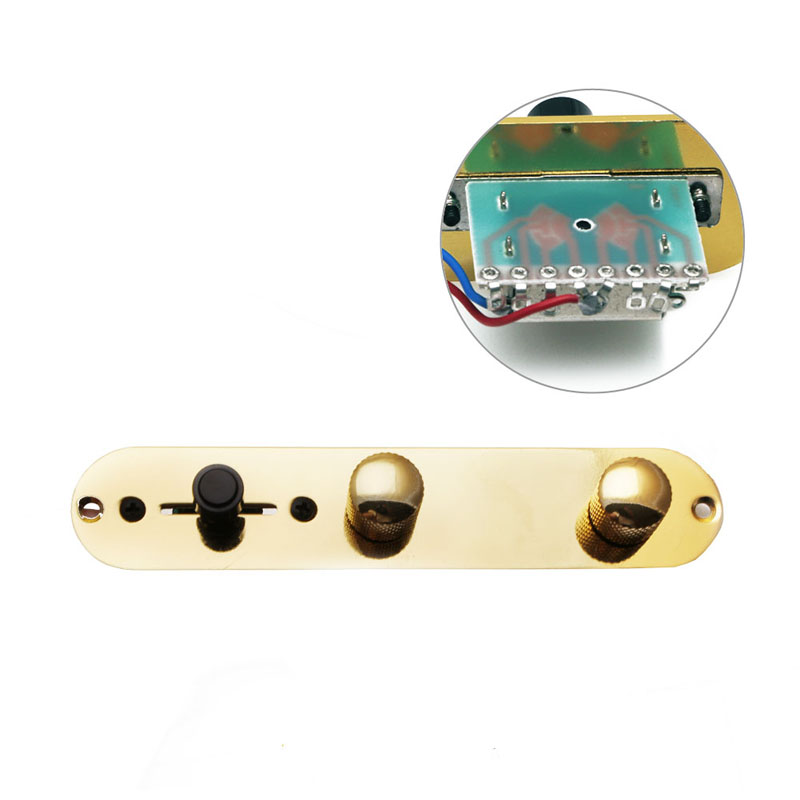 1Pc Gold Loaded Prewired Control Plate Switch for Fender Telecaster Guitar(China (Mainland))
