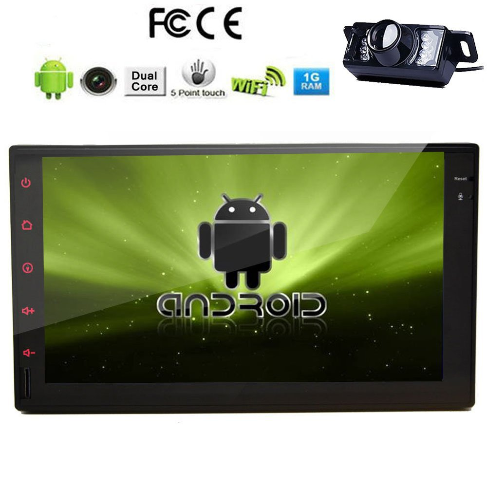 Rear Camera+USA Double 2 din Pure Android 4.2 Car PC Tablet Full-Touch Stereo Bluetooth GPS Car Radio mp3 No-DVD Player iPod USB(China (Mainland))