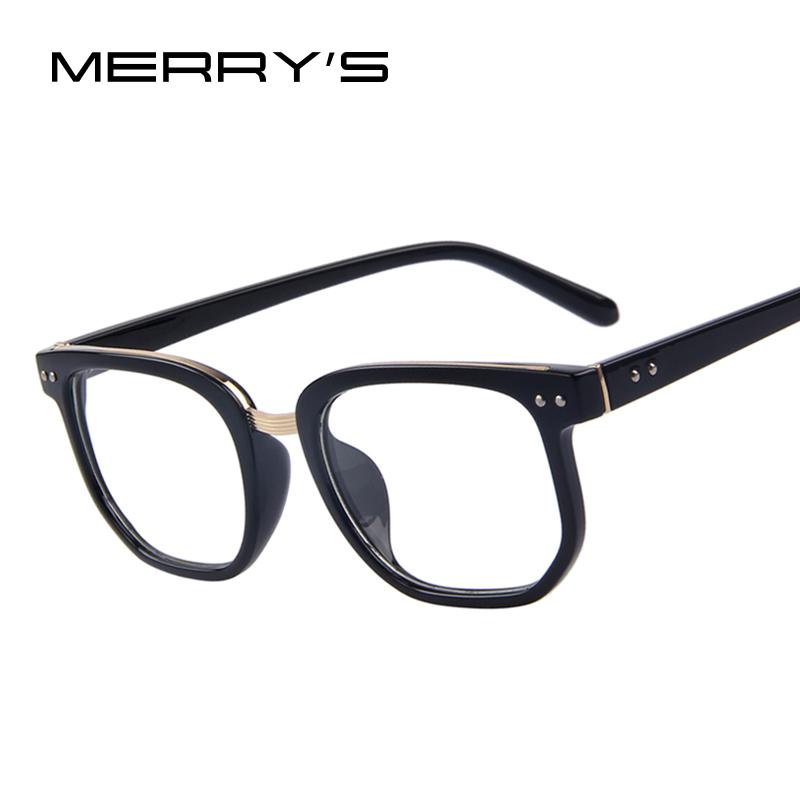 MERRY'S Brand Design Computer Eye Glasses Men Rivet Frames Male Eyeglasses Optical Frame Clear Lens