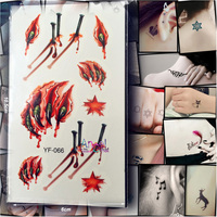 1PC Removable Vivid Body Art 3D Tattoos YA66 Claw Paw Wound Nail Halloween Women Men Flash Waterproof Temporary Tattoo Stickers