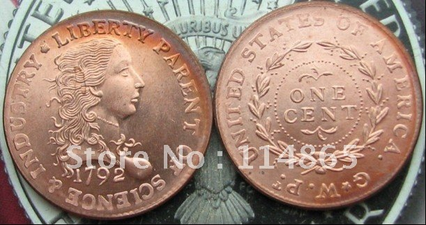 1792 BIRCH LARGE CENT GALLERY MINT Coin COPY FREE SHIPPING(China (Mainland))