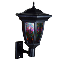 Outdoor 1.2V 0.6W Solar Power LED Light Path Way Night Light  Wall Landscape Mount Fence Lamp Low Voltage Long Lasting FEN#(China (Mainland))