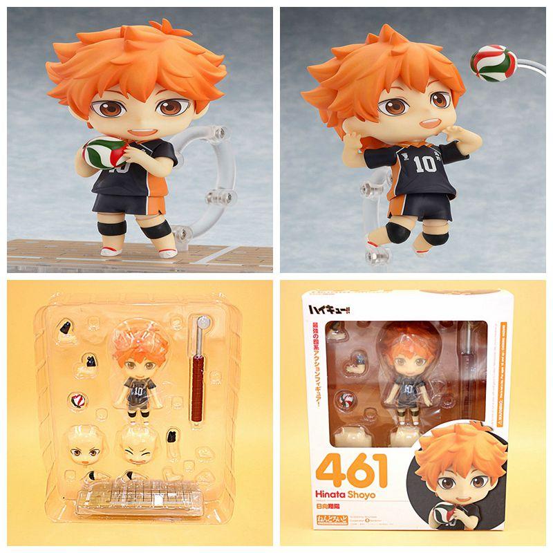 Japanese Anime Figure Nendoroid Haikyuu Hinata Syouyou PVC Action Figure Model Collection Doll kids toys 10cm(China (Mainland))