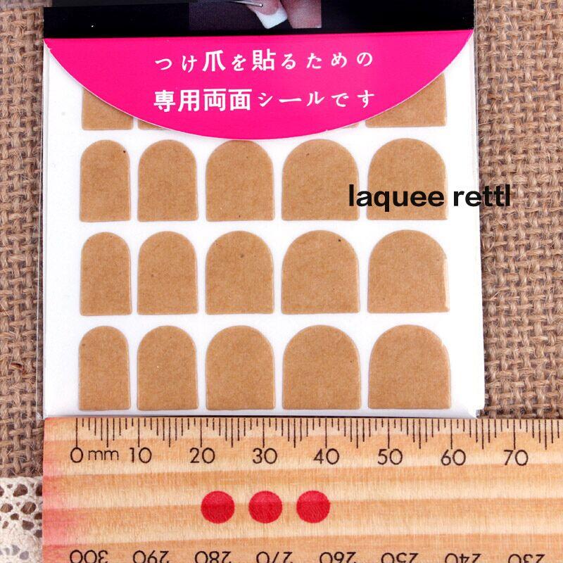 Hot Sale 5 packs False Nail Art Double Side Adhesive Sticky nail stickers Free shipping(China (Mainland))